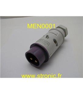 FICHE MALE 2P 20-25V  16A IP 44