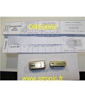 RELAIS  BISTABLE  RLS 110 R12 1078