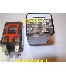 RELAIS RM 835 024  24V AC  2RT 10A