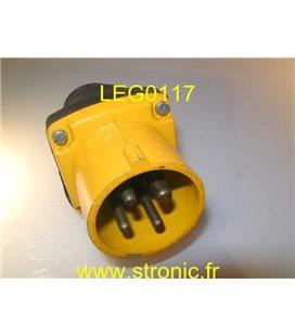 FICHE MALE DROITE ML 3P+T 16A   CAOUTCHOUC 413 F3