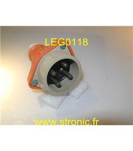 FICHE MALE DROITE ML 3P+T 16A   PLASTIQUE 154 DN