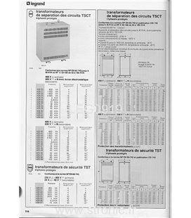 TRANSFORMATEUR SEP.  230/400--115 V 6.3kVA  425 32