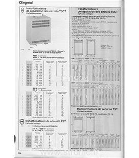 TRANSFORMATEUR SEP. 230-380/220 V 4kVA  425 19