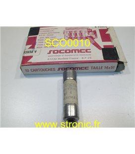 FUSIBLE SOCOMEC C63210  gL 4A x10