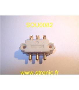 CONNECTEUR 3 POLES MALES 8140 BLANC