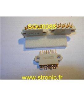 CONNECTEUR 8 POLES MALES 8140 BLANC CMCIA