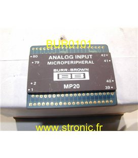 ANALOG INPUT 8 BITS INTERFACED DATA MP 20