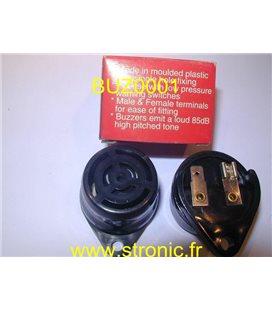 BUZZER  NOIR  12V  85 dB  S-681 A