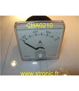 AMPERMETRE DE TABLEAU 800A  72x72