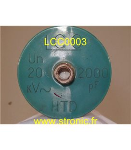 CONDENSATEUR THT LCC 2000pF 20kV