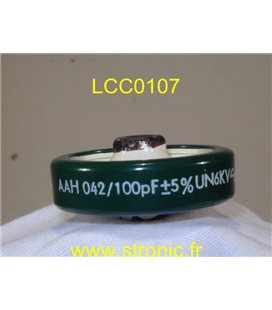 CONDENSATEUR LCC DISC 100pF 6kV
