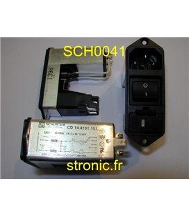 EMBASE SECTEUR 220V  CD 14 4101 151