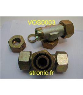 RACCORD EN T ORIENTABLE  EGAL 24-SWT-S25 PN400