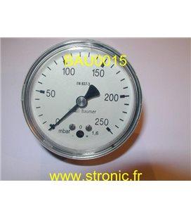 MANOMETRE  0 - 250 BAR   65 mm