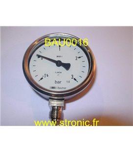 MANOVACUOMETRE   -1/+3 BAR  EN837-1   1.6