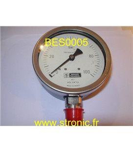 MANO FLONIC 100 BAR 630624 100 AISI 316 TI/L