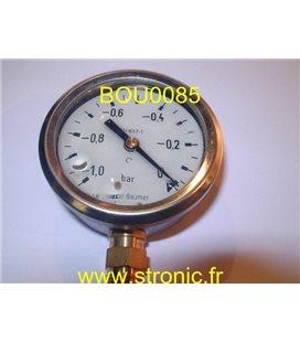 VACUOMETRE  -1 A 0 BAR MIT3 D22 B59