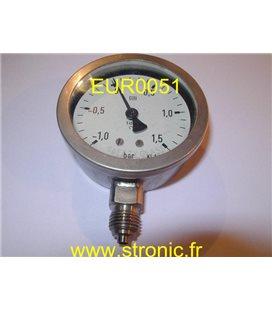 MANOVACUOMETRE  -1/1.5 BAR   RF63 Ch