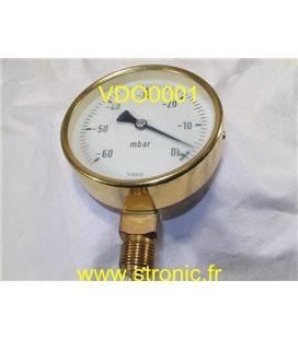 VACUOMETRE  -600 .. 0  MBAR
