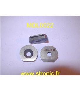 CLAVETTE DISQUE SUR PLAT 6.5 mm