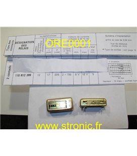 RELAIS  BISTABLE  RLS  110 R12 399